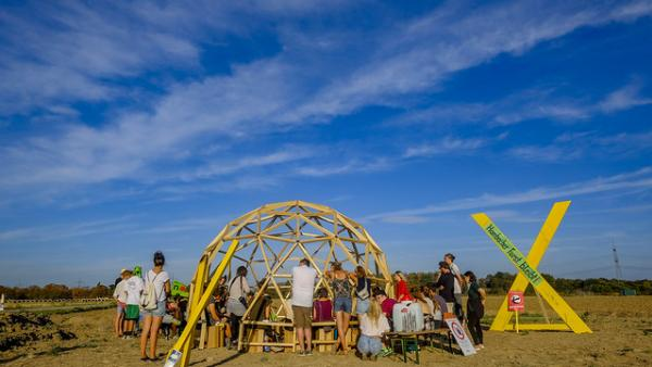 Our European Public Sphere Dome at Camp For Future, Hambacher Forst