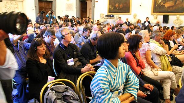 Participants at the Global Forum on Modern Direct Democracy in Rome